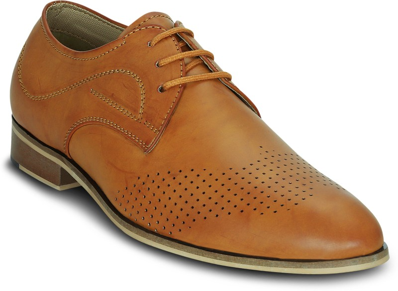 Kielz Kielz-Mens-Derbys-Formal Shoes Lace Up For Men(Tan)
