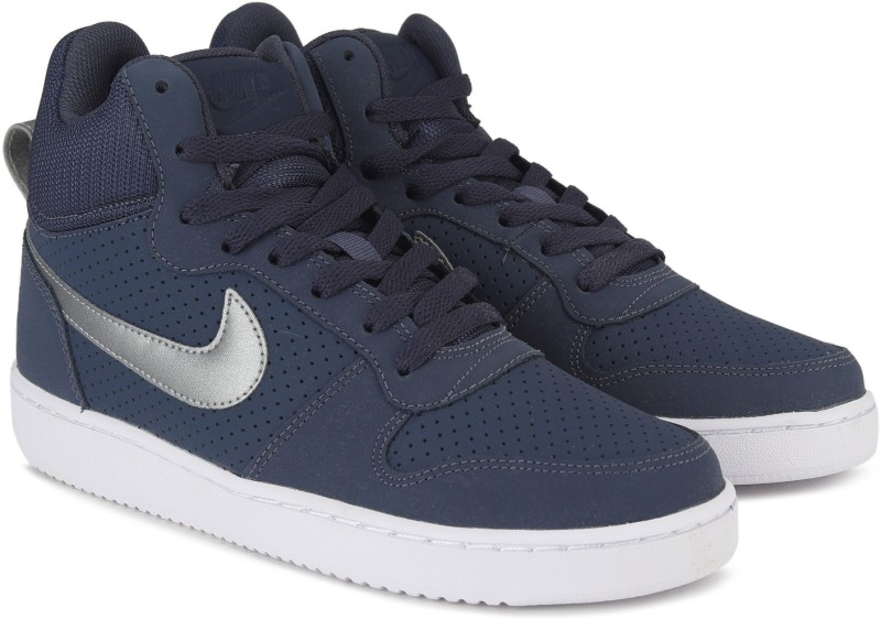 Nike COURT BOROUGH MID Sneakers For Men(Blue)