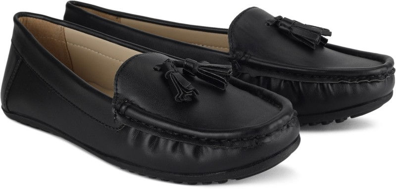 Miss CL By Carlton London MCLLFS800059 Loafers For Women(Black)