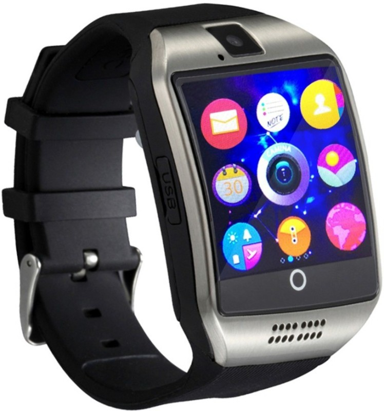 Estar SMARTWATCH Q18 ZEGAREK ANDROID IPHONE PL MENU CLIP ON Smartwatch(Black Strap FREE SIZE)