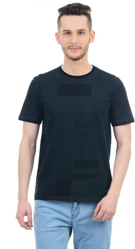 Monte Carlo Printed Men Round Neck Black T-Shirt