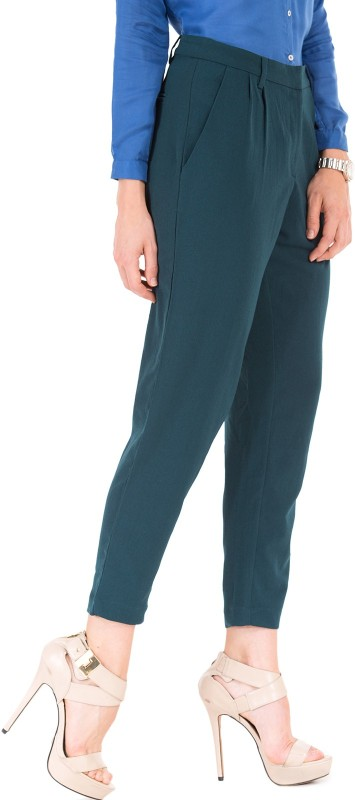 Arrow Woman Slim Fit Women Blue Trousers