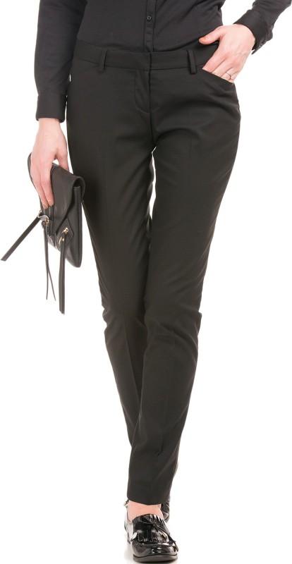 Arrow Woman Regular Fit Women Black Trousers