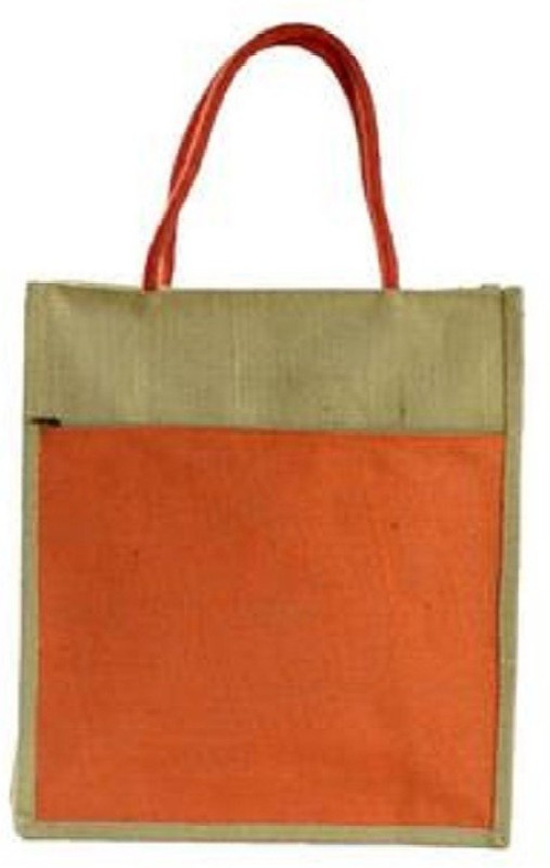 DAREDEVIL JUTE BAG Jute Bag Waterproof Multipurpose Bag(Orange, 4 L)