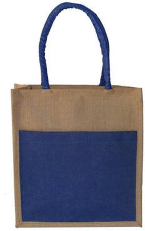 DAREDEVIL JUTE BAG Jute Bag Waterproof Multipurpose Bag(Blue, 4 L)