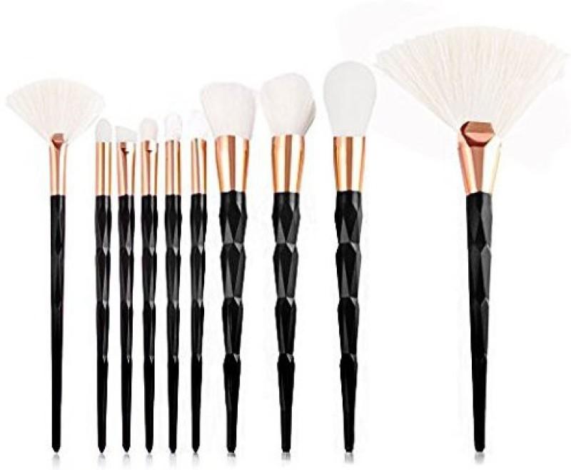 Foolzy Makeup Brushes Set 10 Pieces Professional Foundation Eyebrow Eyeliner Blush Cosmetics Brush Kit(Pack of 10)
