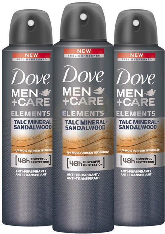 Dove TALC MINERIAL SANDALWOOD Body Spray - For Men(150 ml, Pack of 3)