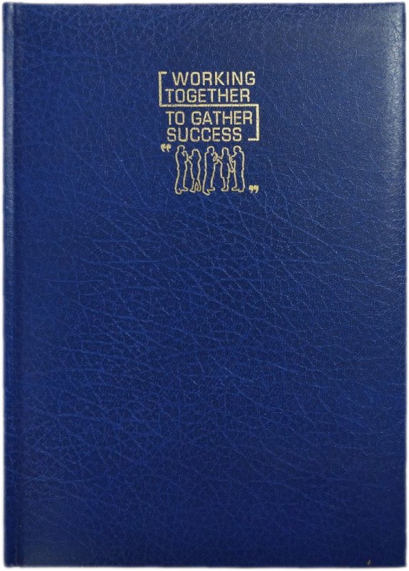 La kaarta Working Together Blue Pvc Notebook Vera B5 Notebook A5 Notebook 224 Pages(Blue)