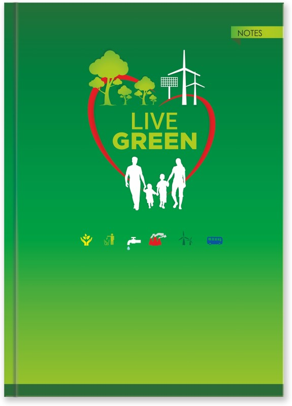 La kaarta Live Green Family B5 Size B5 Notebook 224 Pages(Green)