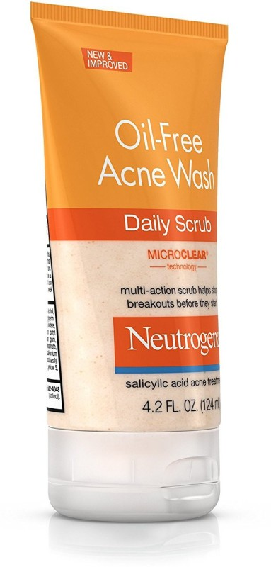 Neutrogena Oil-Free Acne Wash Daily Scrub Face Wash(124 ml)