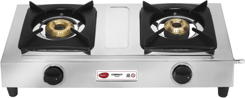 Pigeon Compact Stainless Steel Manual Gas Stove(2 Burners)