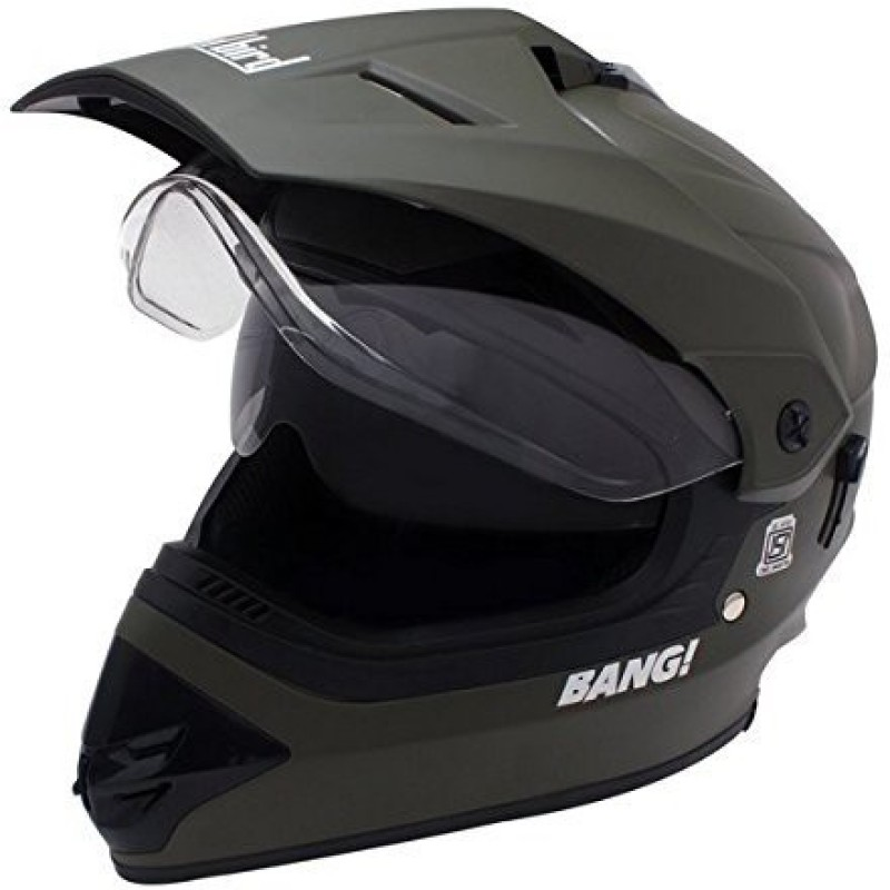 Steelbird Steel Bird Motorcross Bang SB-42 helmet Motorbike Helmet(Matt Green)