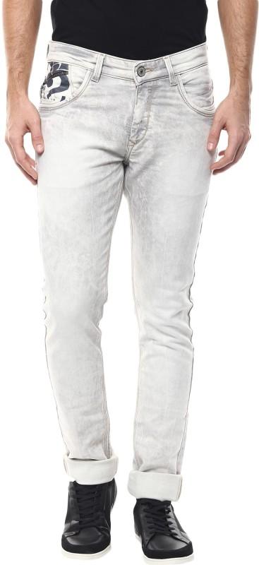 Spykar Skinny Mens White Jeans