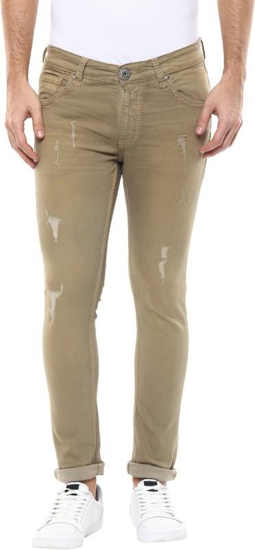 Spykar Skinny Mens Beige Jeans