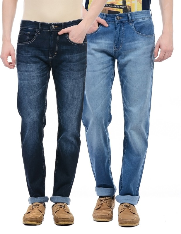 Monte Carlo Regular Men Blue Jeans(Pack of 2)