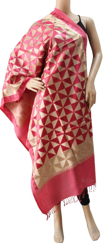Matelco Wool Embroidered Women Shawl(Pink)