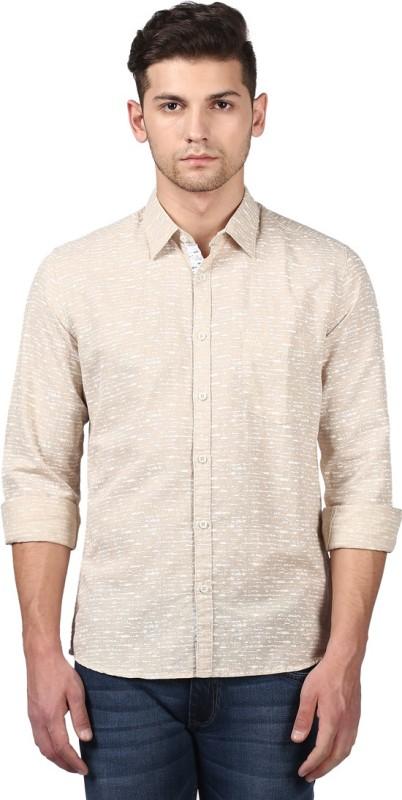 Parx Mens Printed Casual Cut Away Shirt