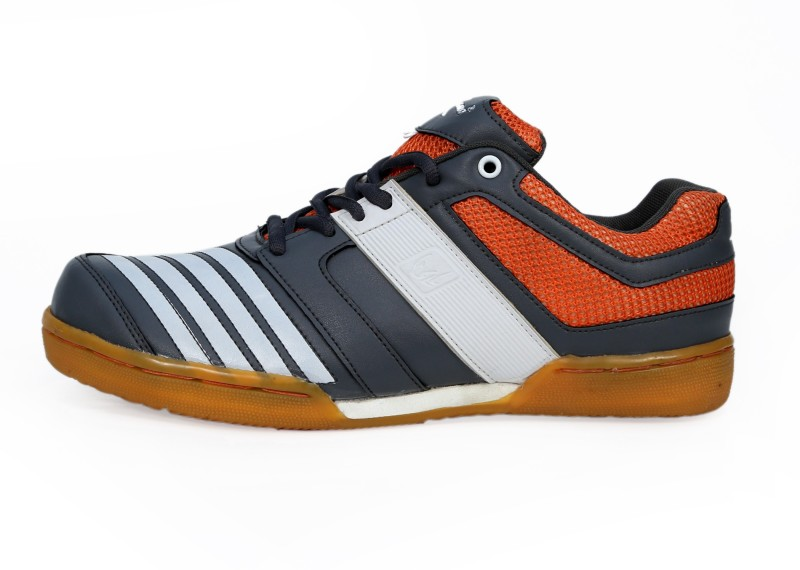 Zigaro Z503 GREY ORANGE Badminton Shoes For Men(Grey)