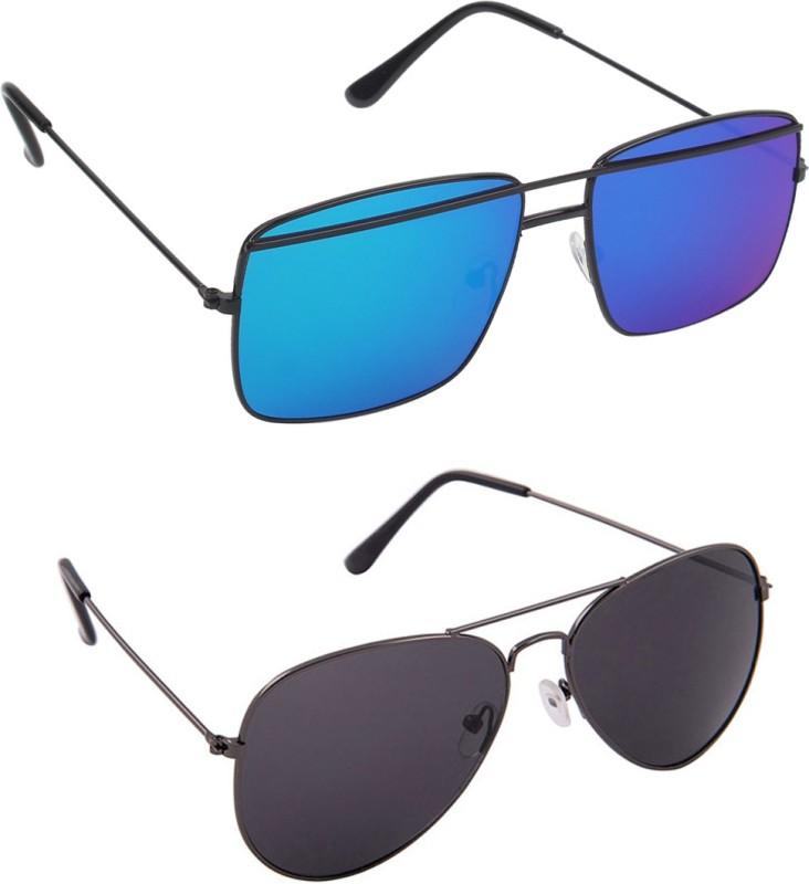 Hob Epic Ink Aviator Sunglasses(Black) image