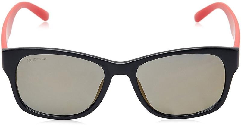 Fastrack Wayfarer Sunglasses(Golden)