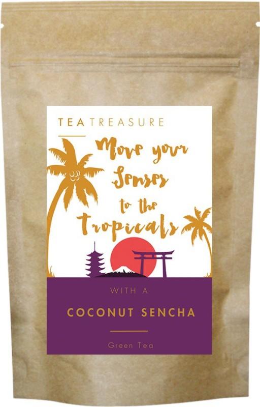 TeaTreasure Coconut Sencha Tea Coconut Green Tea(0.05 g, Pouch)