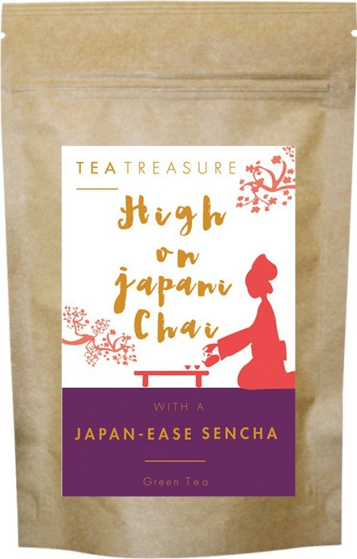 TeaTreasure Pure Sencha Tea Unflavoured Green Tea(50 g, Pouch)