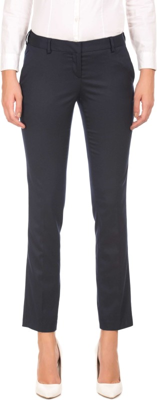 Arrow Regular Fit Women Blue Trousers