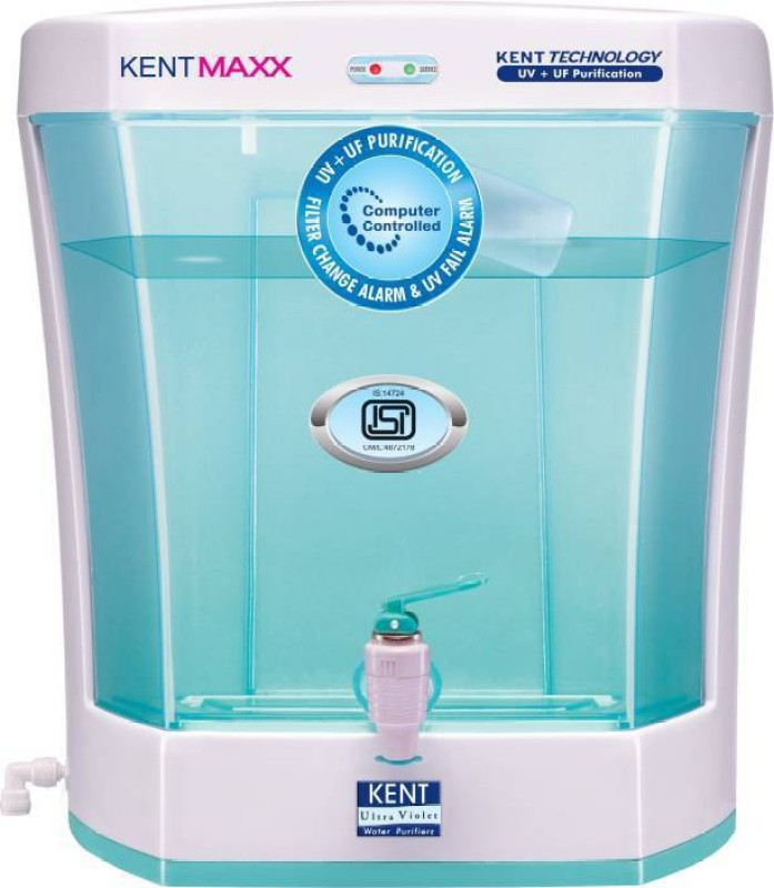 Kent MAXX 7 L UV + UF Water Purifier(White & Blue)