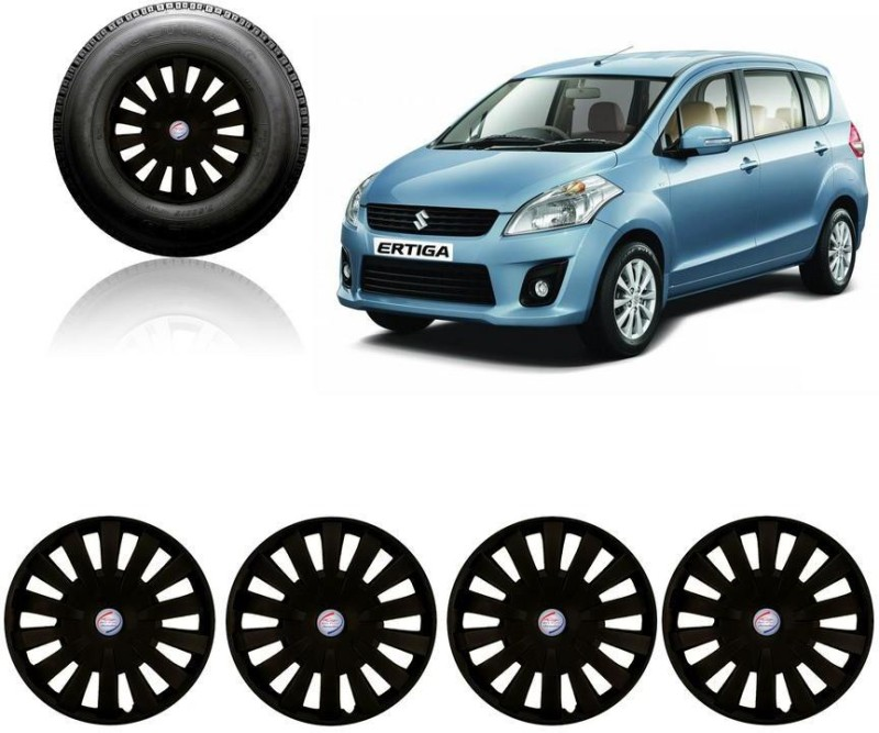 Auto Pearl Premium Quality Car Full Black Caps Black 15 inches Press Type Fitting Matt Finish Wheel Cover For Maruti Ertiga(38.01 cm)