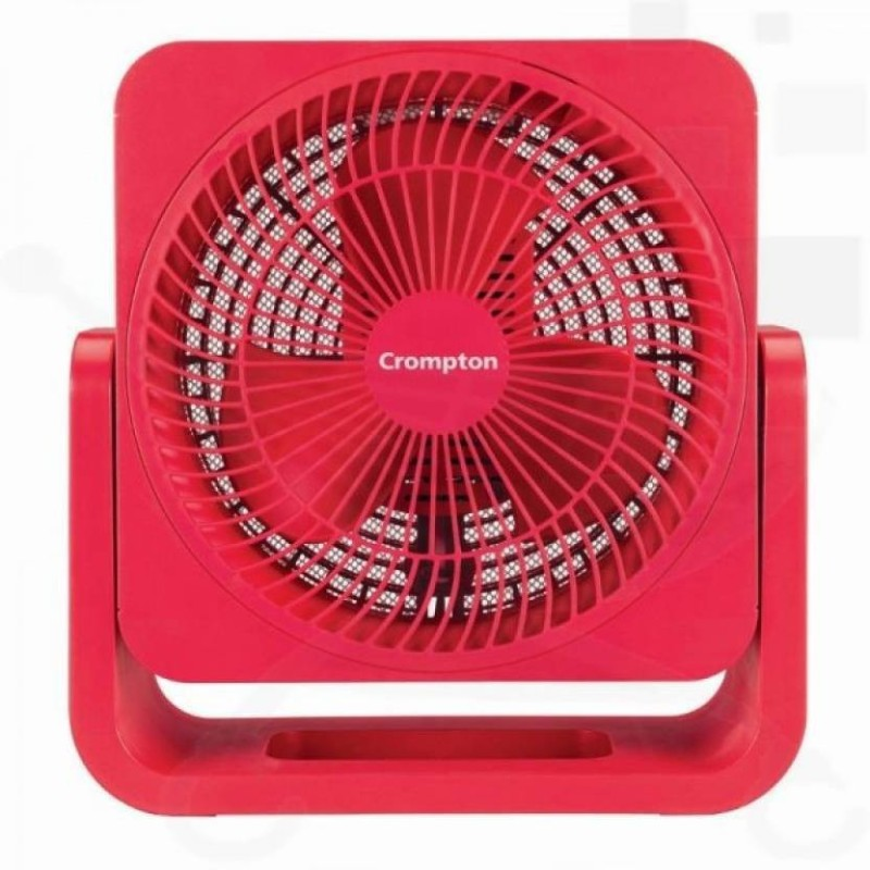 Crompton bubbly cherry red 3 Blade Table Fan(Red)