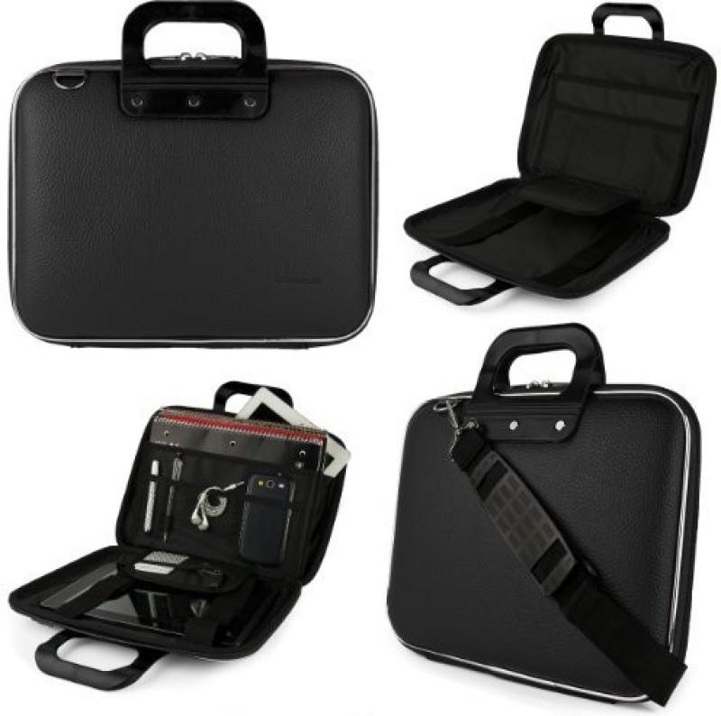 SumacLife 14 inch Laptop Messenger Bag(Black)