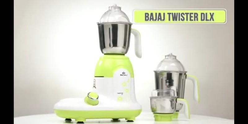 Bajaj TWISTER DLX 750 Mixer Grinder(Multicolor, 3 Jars)