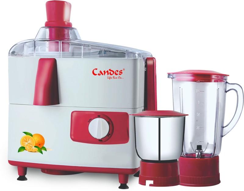 Candes JMG 151 ROSE 500 Juicer Mixer Grinder(Red, Grey, 2 Jars)