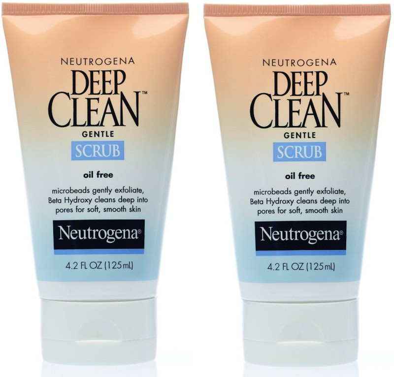 Neutrogena Oil-Free Deep Clean Gentle Scrub, 4.2 Ounce (Pack of 2) Scrub(125)