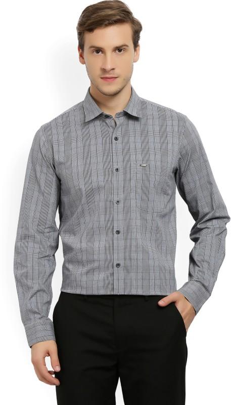 Peter England Mens Checkered Formal Spread Shirt