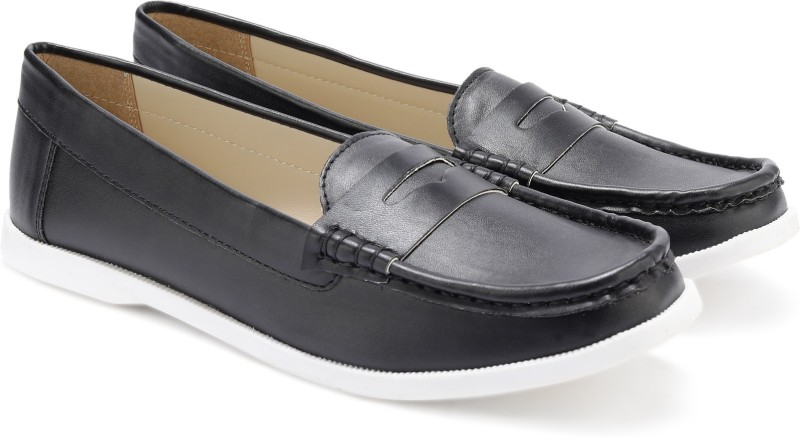 Miss CL By Carlton London MSCL-0026 Loafers For Women(Black)