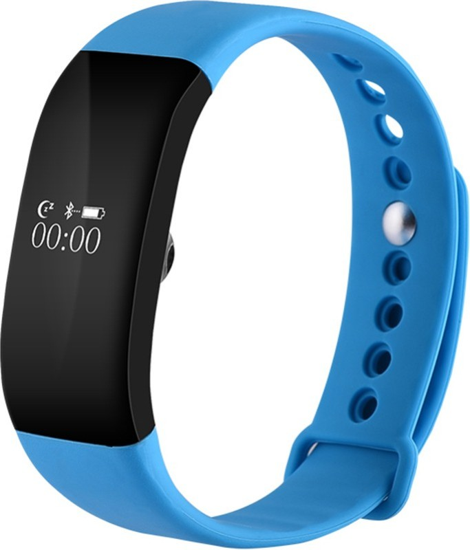 owo V66 Blue Bluetooth Wristband with Heart Rate Monitor Sports Waterproof Smart Bracelet for Android IOS Smart Band Strap(Blue)