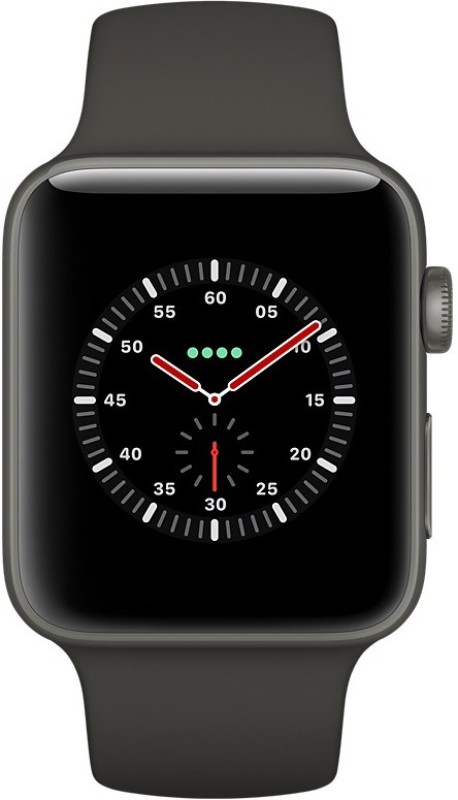 Apple Watch Edition Series 3 GPS + Cellular- 42 mm Gray Ceramic Case with Sport Band(Black Strap Regular)