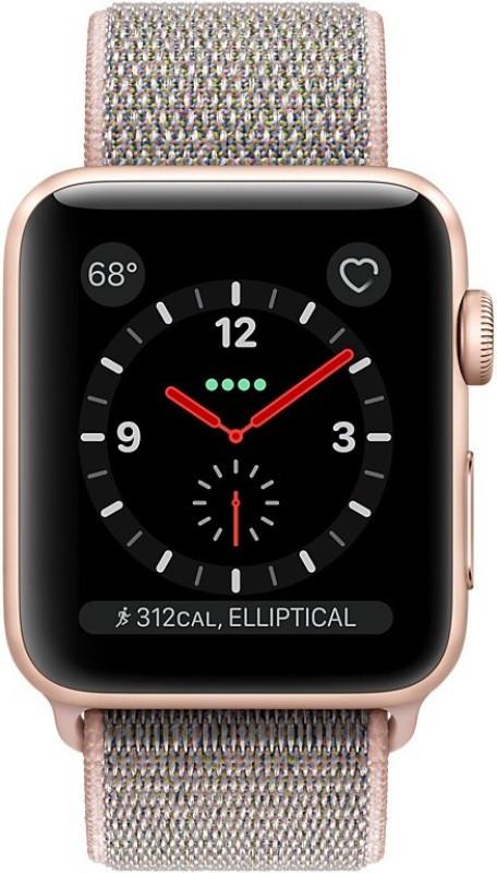 Apple Watch Series 3 GPS + Cellular - 42 mm Gold Aluminium Case with Sport Loop(Pink Strap Regular)