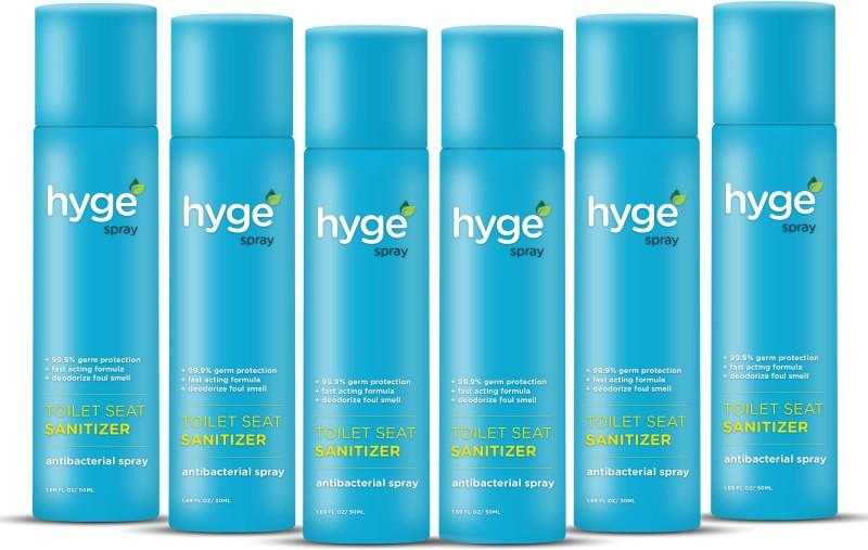 HYGE 50 ML Each Pack Of 6 Original Spray Toilet Cleaner(300 ml, Pack of 6)