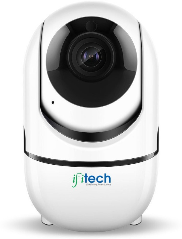 IFITech 720p HD Pan/Tilt/Zoom Human Motion & Sound Tracking Home Security IP Camera-  Webcam(White) image