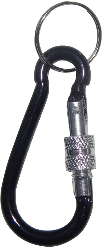 NPRC Mini Aluminum Hiking Snap Hook Locking Carabiner(Black)