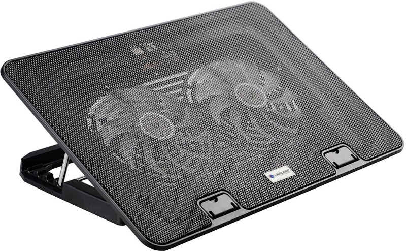spincart Chillmate Cooling Pad And Stand For Laptop 2 Fan Cooling Pad(Black)