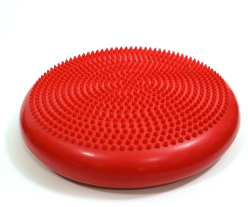 Iris Inflated Stability Red Balance Mat with Hand Pump Balance Disc Fitness Balance Board(Red)