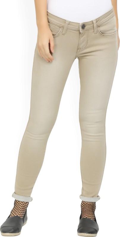 Wrangler Slim Women Beige Jeans