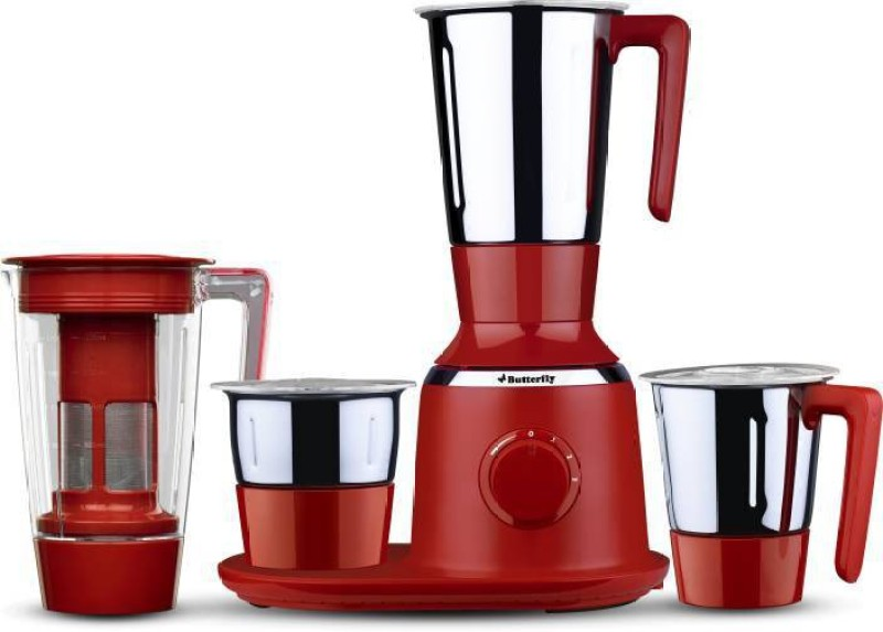 Butterfly Spectra 2 Juicer Mixer Grinder(Red, 4 Jars)
