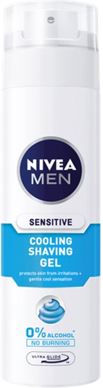 Nivea Sensitive Cooling Shaving Gel, Travel Size (Made in poland)(30 ml)