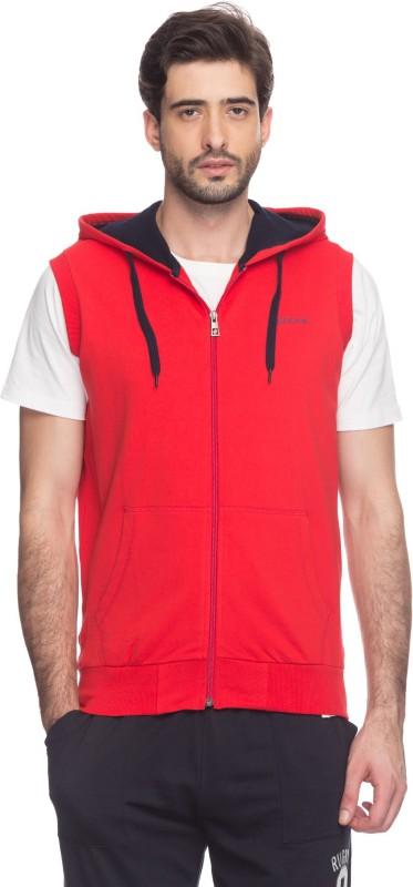 Spunk Sleeveless Solid Men Sweatshirt