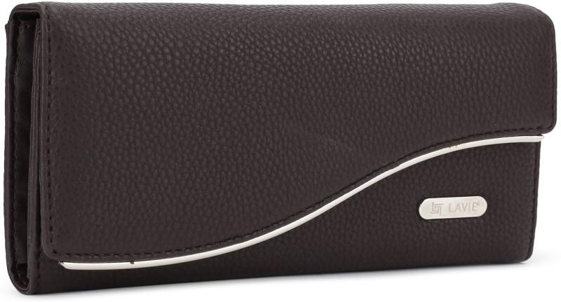 Lavie Women Brown Artificial Leather Wallet(11 Card Slots)