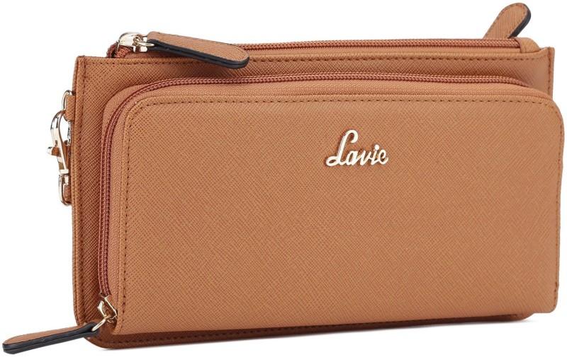 Lavie Women Brown Artificial Leather Wallet(8 Card Slots)